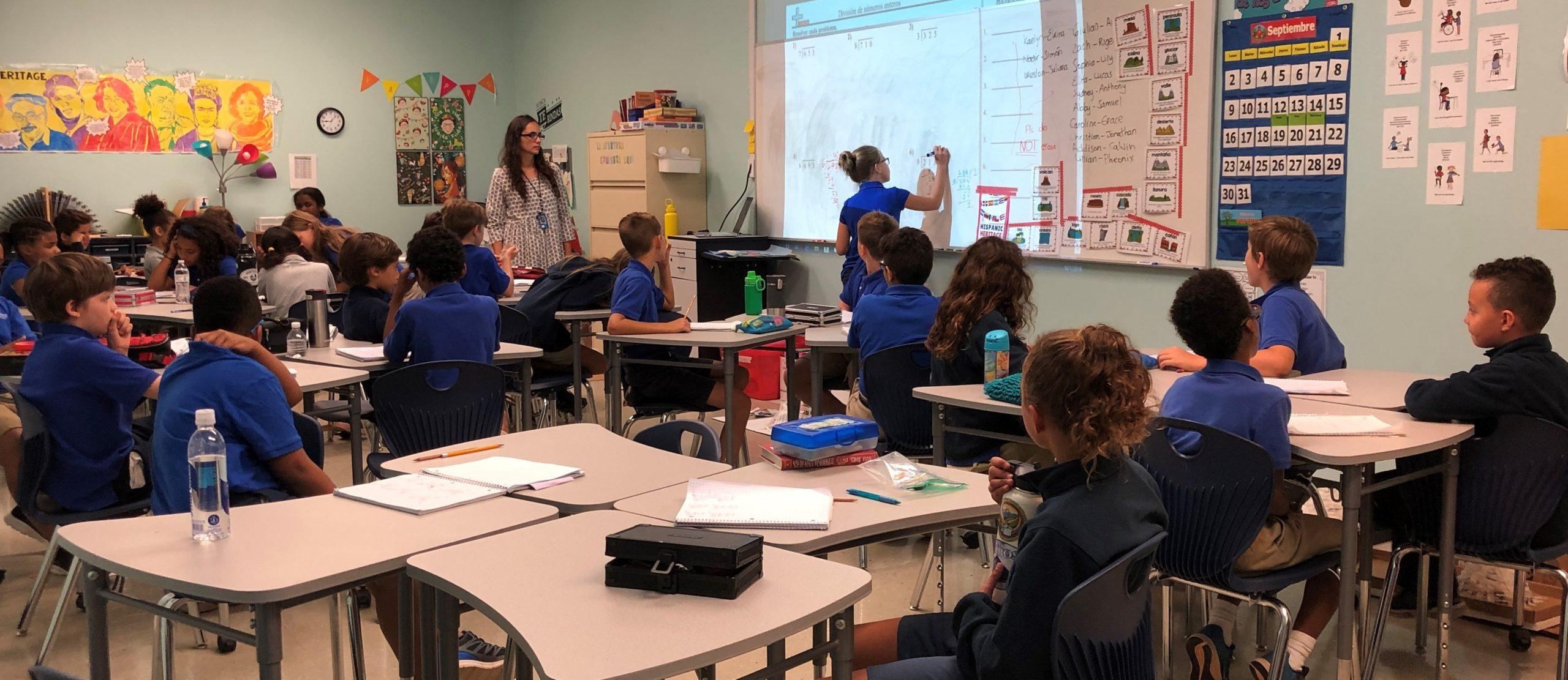 ICSAtlanta Spanish classroom 4th grade cropped